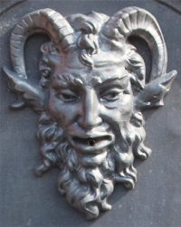 satyr mask or spout